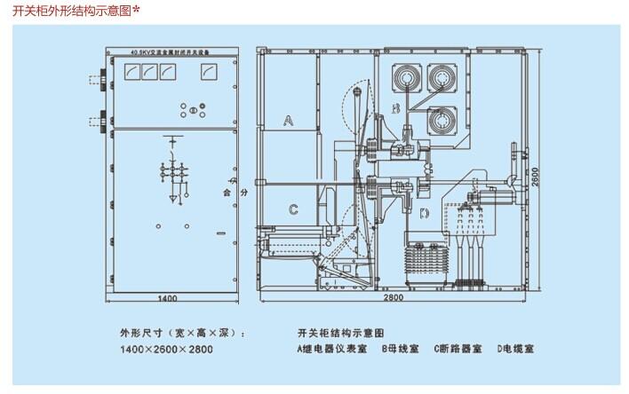 KYN61开关设备外形结构