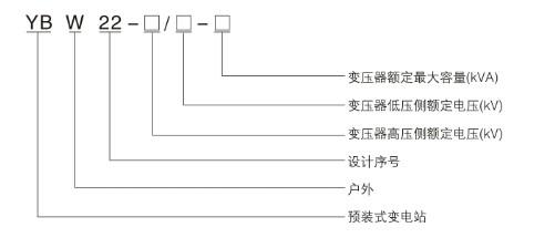 欧式箱变型号说明